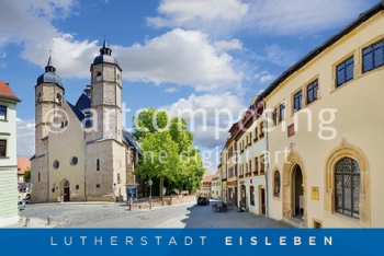 76-006 Eisleben - Luthers Sterbehaus / St. Andreaskirche Highlights (Magnet)